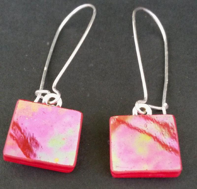 Square Glass Earrings