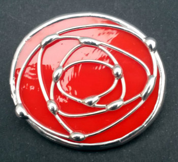 Oval Rose Brooch