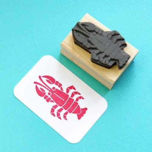 Rock Lobster Rubber Stamp