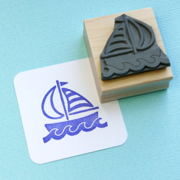 Sail Boat Rubber Stamp
