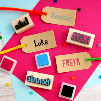 Personalised Children's Name Rubber Stamp