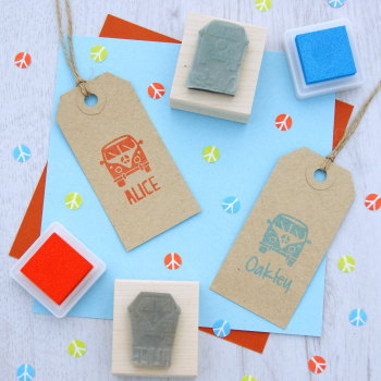 Personalised Children's Camper Van Rubber Stamp