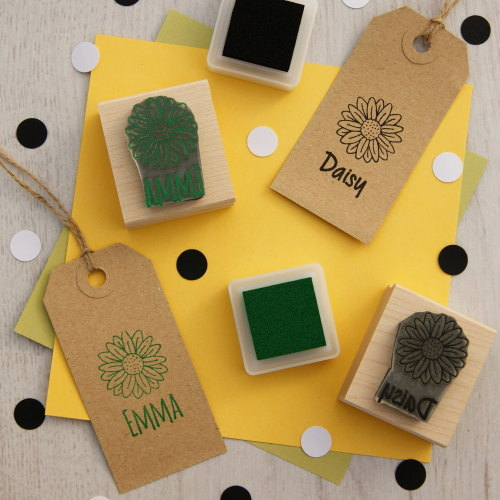 Personalised Children's Daisy Rubber Stamp