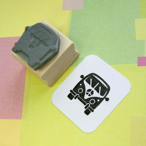 Mini Camper Van Rubber Stamp