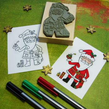 Colour-Me-In Santa Rubber Stamp