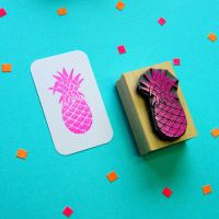 Tropical Pineapple Rubber Stamp