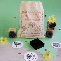 Pretty Flower Rubber Stamp Set
