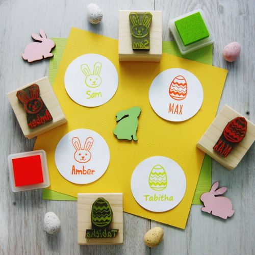 Personalised Children's Easter Rubber Stamp