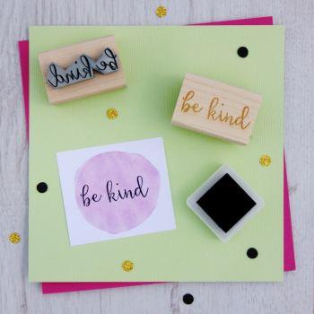 Be Kind Script Font Rubber Stamp