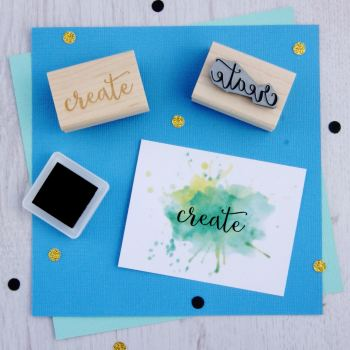 Create Script Font Rubber Stamp