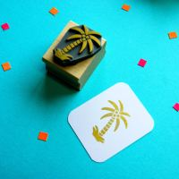 Tropical Palm Tree Rubber Stamp