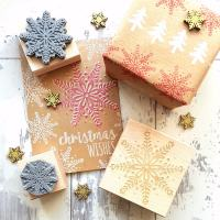 Christmas Scandi Snowflake Rubber Stamp