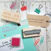 Personalised Business Custom Text Rubber Stamp