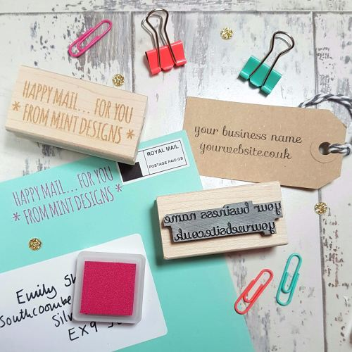**NEW FOR 2016** Personalised Business Custom Text Rubber Stamp