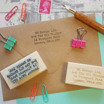 Personalised Business Custom Address Rubber Stamp