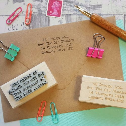 **NEW FOR 2016** Personalised Business Custom Address Rubber Stamp