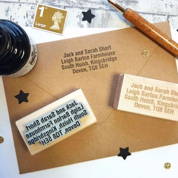 Personalised Custom Address Rubber Stamp