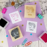 Personalised Children's Unicorn Rubber Stamp