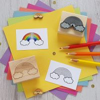 Rainbow Rubber Stamp
