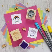 Personalised Children's Rainbow Rubber Stamp