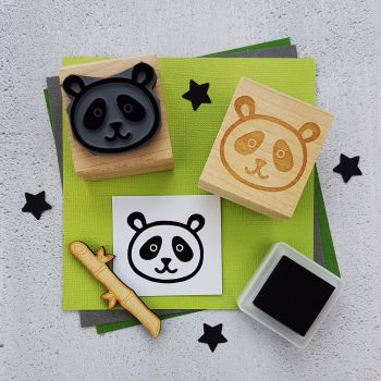 Cute Panda Rubber Stamp