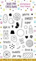 Retro Sweeties Clear Rubber Stamp Set