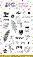 Tropical Party Rubber Clear Rubber Stamp Set