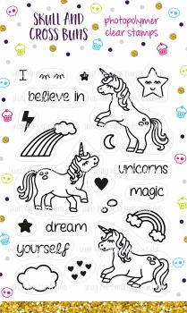 I Believe in Unicorns Clear Rubber Stamp Set