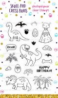 Dinosaur Gang Clear Rubber Stamp Set