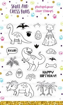 NEW YEAR SALE! Dinosaur Gang Clear Rubber Stamp Set 50% OFF