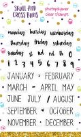Days and Months Clear Rubber Stamp Set