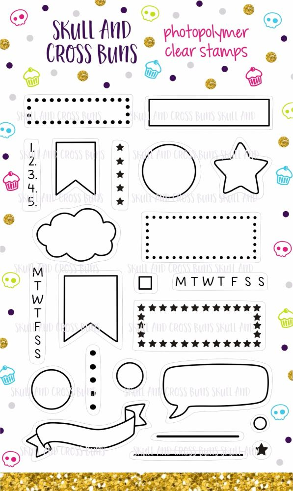 Planner Banners Clear Rubber Stamp Set