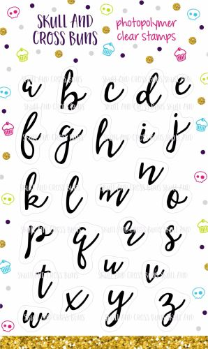 Calligraphy Alphabet Clear Rubber Stamp Set