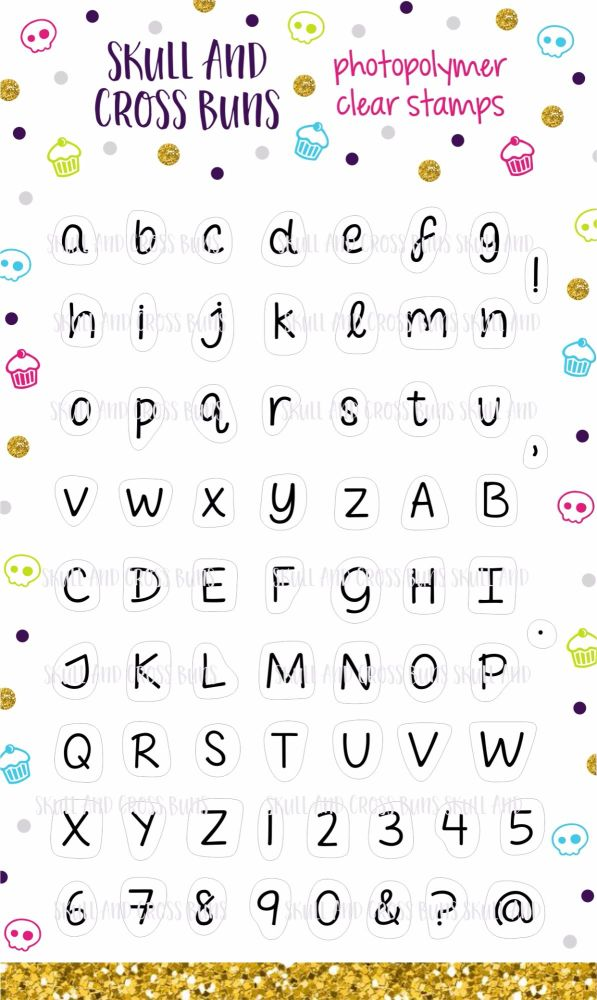 Alphabet Clear Rubber Stamp Set