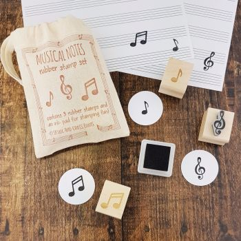 Musical Notes Rubber Stamp Set