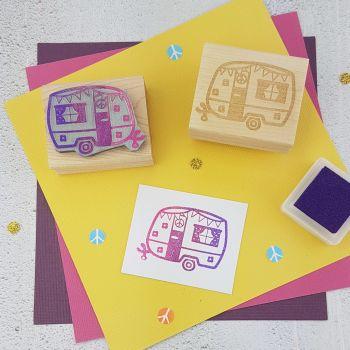 Festival Caravan Rubber Stamp