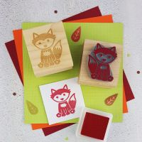 Woodland Fox Rubber Stamp
