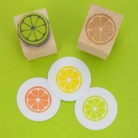 Citrus Slice Rubber Stamp