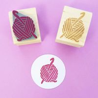 Crochet Rubber Stamp