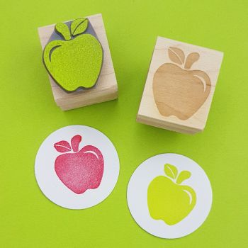 Crunchy Apple Rubber Stamp