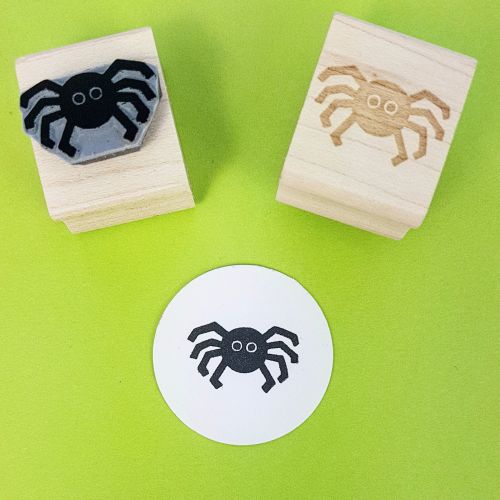 Cute Spider Hand Carved Rubber Stamp