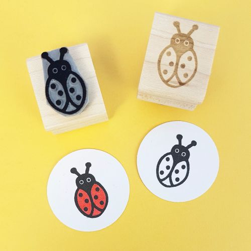 Ladybird Hand Carved Rubber Stamp