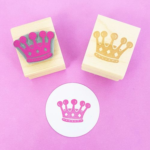 Little Crown Hand Carved Rubber Stamp
