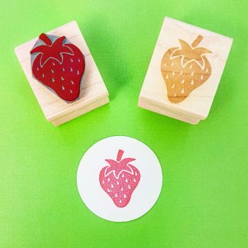 Little Strawberry Rubber Stamp