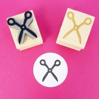 Mini Scissors Rubber Stamp