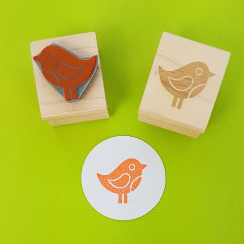Spring Chick Hand Carved Rubber Stamp