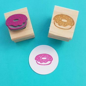 Tasty Donut Rubber Stamp