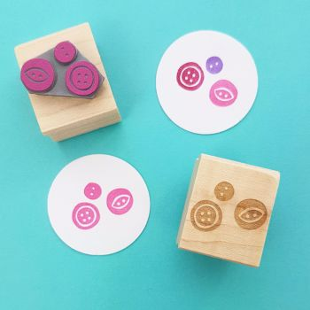 Tiny Button Cluster Rubber Stamp