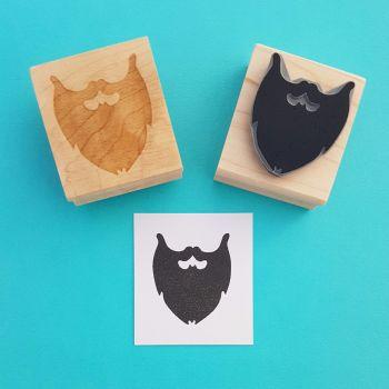 Beard Rubber Stamp