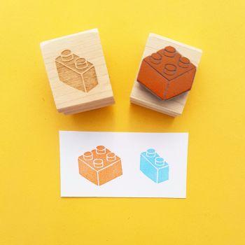 Building Bricks Set of 2 Rubber Stamps